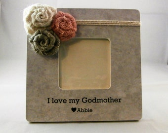 Personalized Godmother gift, thank you baptism gifts for godparent photo frame