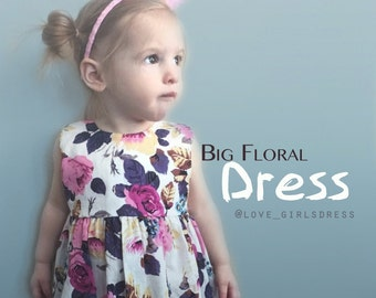 Spring/Summer NEW Floral Mini Dress, Baby Easter Dress, Baby Summer Dress, Spring Dress