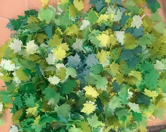 Summer green biodegradable confetti leaves eco friendly slow falling