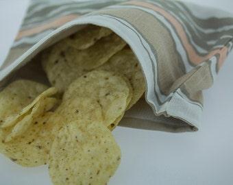 Handmade Reusable Eco Friendly Snack Bags Set of Three