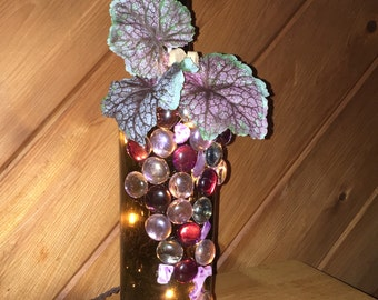 Upcycled/ Recycled Wine bottle lamp