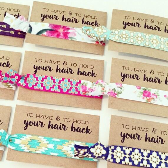 ASSORTED BOHO Hair Tie Favors | Boho Bachelorette Hair Ties, Bride Tribe Bohemian Bachelorette Hair Tie Favor, Turquoise Gold Aztec Tribal