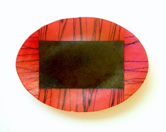 Iridescent Fused Glass Plate by Kurt McVay