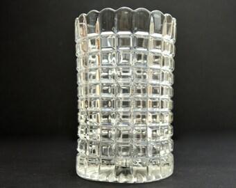 Vintage Pressed Glass Vase Vintage Vase Celery Vintage Hobnail Vase Vintage Flower Vase