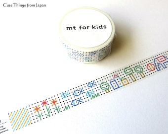 New mt for kids Embroidery Washi Tape, Masking Tape, [MT01KID025]