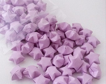 Pastel Purple Origami Lucky Stars 100 Count