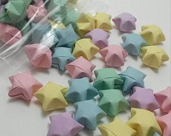 Pastel Rainbow Origami Lucky Stars 100 Count