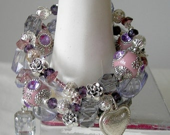 Lilac and silver