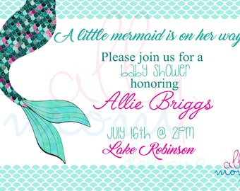 Mermaid Shower Invitation Template