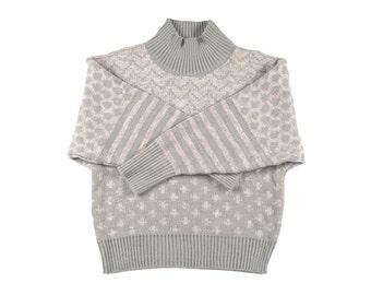 Grey Turtleneck Oversized Women's Sweater