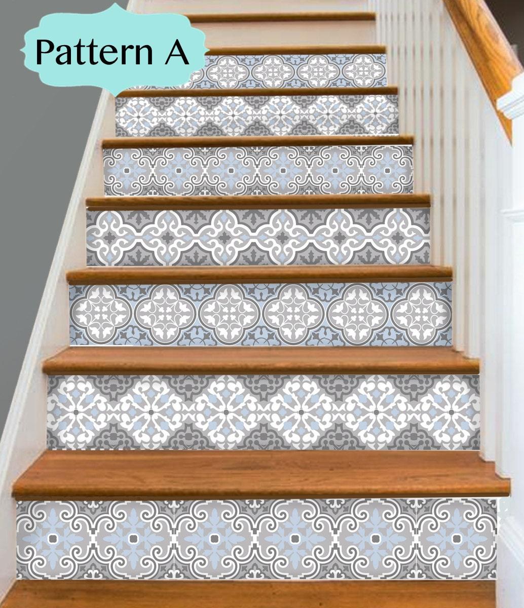 15steps Stair Riser Vinyl Strips Removable Sticker By