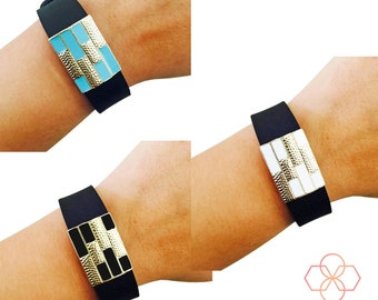 Bundle Pack! - The ENDLESS SUMMER Charms in Gold and Black, White or Blue to Dress Up Your Fitbit or Other Fitness Activity Tracker