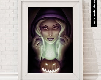 Halloween Hex // Illustrated Giclee Art Print // Wendy Stephens