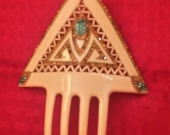 bakelite  art deco hair comb