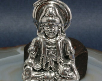 Buddha, pendant, 925 sterling silver, electroforming - 3035