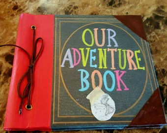 "Our Adventure Book Scrapbook, Wedding Guest Book, Photobook 6"" x 6"""