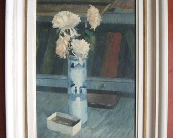 Still life oil on canvas, by Dennis G Knowland (1918-1985) Monogrammed.