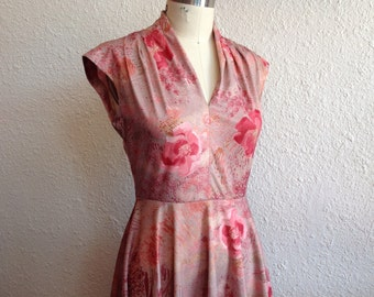 1970s Dusty Rose dress