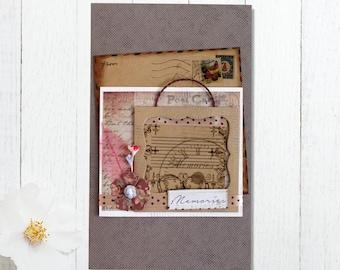 Fly Album Memories - Handmade Photo Album -  Scrapbook - Photo Book