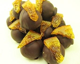 Chocolate truffles with dark chocolate and orange 200 grams