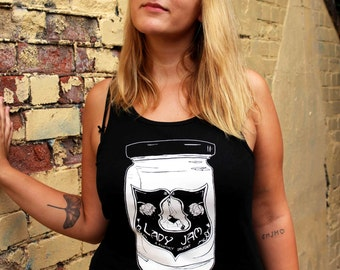 Feminist, Retro, Pin Up, singlet vest, ethical fashion - Lady Jam