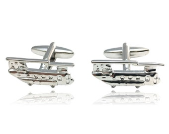 Chinook Helicopter Cuff Links