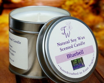 Bluebell Scented Soy Wax Candle