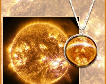 Sun Pendant on Sterling Silver chain with Gift Card