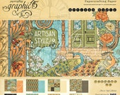 CLEARANCE SALE!  Graphic 45 Artisan Style 12x12 Paper Pad SC007472