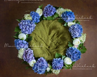Digital background prop floral wreath
