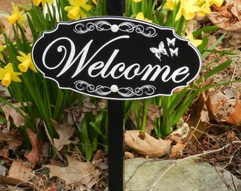 WELCOME Lawn, Garden Sign - Free Shipping