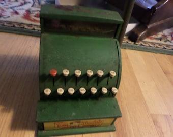 Vintage Tom Thumb childs metal cash register--working