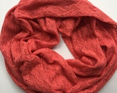 Women's Coral Lace lnfinity Scarf- Fall Collection Everyday Pitter Patter