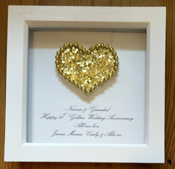 Golden Wedding Anniversary Gifts For Parents Uk : 50th wedding anniversary gift, golden anniversary present for parents ...