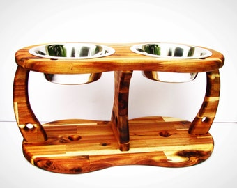 ACACIA TRIPOD (size L and XL) - elevated dog bowl - raised dog dish - dog bowl holder - elevated feeding station - dog bowl stand - raised d