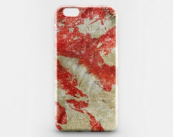 iPhone Case Stylish Phone Case iPhone 7 Cover Red iPhone 7 Plus iPhone 6 Plus Case Burlap iPhone 6 Case iPhone 5C iPhone 4-5 Case Galaxy S7