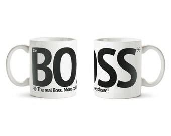 Coffee Mugs, Boss Coffee Mug, Funny Mug, Girl Boss Mug, Gift for Boss, More Coffee Mug, Inspirational Coffee Mug, Popular Mug, Ceramic Mug