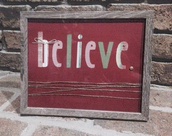 Holiday 'Believe' Sign
