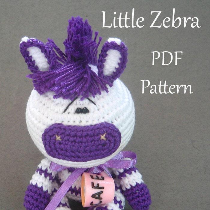 Crochet Amigurumi Zebra Pattern : Amigurumi crochet Little Zebra pattern PDF pattern ENGLISH