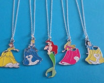 "DISNEY PRINCESS 18"" silver plated necklace & FREE organza gift bag - party bag fillers- xmas stocking -gift"