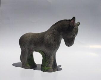 Vintage Ceramic Donkey / Ceramic Donkey / Donkey Figurine /