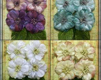 Petaloo - Velvet Peonies x 4 - Choose Color