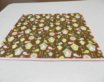 Dish drying mat, dish mat, dish drying towel, drying mat, baby changing mat, brown table topper, drying mat, fabric drying mat  Item #302