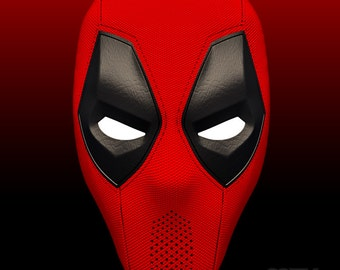 Deadpool Mask v.1.1 for 3D-printing DIY