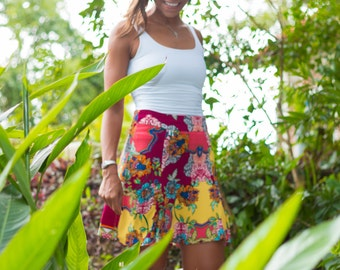 Colocsty Fever Jungle Skirt/ High Waist Skirt /Summer Skirt /Spring Skirt/ Festival Skirt