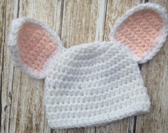 Crochet Bunny Hat, Easter Bunny Hat