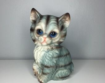 vintage ceramic cat figurine by Wales Japan