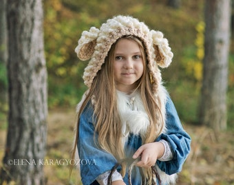 Toddler Girl Hats, Lamb Hat for Girls, Toddler Hats for Girls, Sheep Hat, Animal Hat