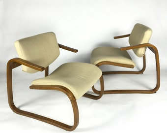 Danish Modern Lounge Chair Pair by Rykken of Norway
