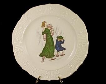 Decorative Plate, Atlas China Company NY, Limited Edition, Kate Greenaway